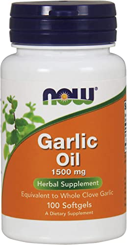 NOW Supplements, Garlic Oil 1500 mg, Serving Size Equivalent to Whole Clove Garlic, 100 Softgels