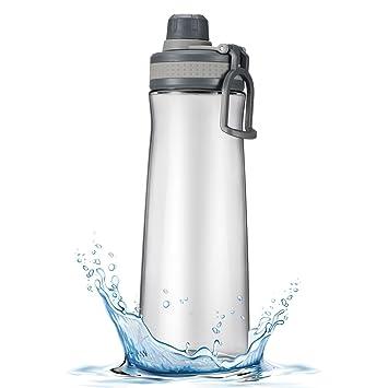 OMORC 1000ML Botella de Agua Deporte, Botella sin BPA, Tiene un Doble Cierre de