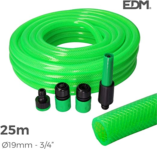 KIT MANGUERA JARDIN DIAM. INT.19MM DIAM. EXT. 25MM (3/4) ROLLO 25M