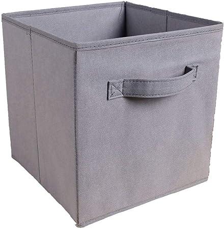Cajas de almacenaje Organizadores de cajones Caja de almacenamiento de tela plegable Contenedores cuadrados Organizador de tela Cestas de almacenamiento Cajón de armario de guardería plegable Light_: Amazon.es: Hogar