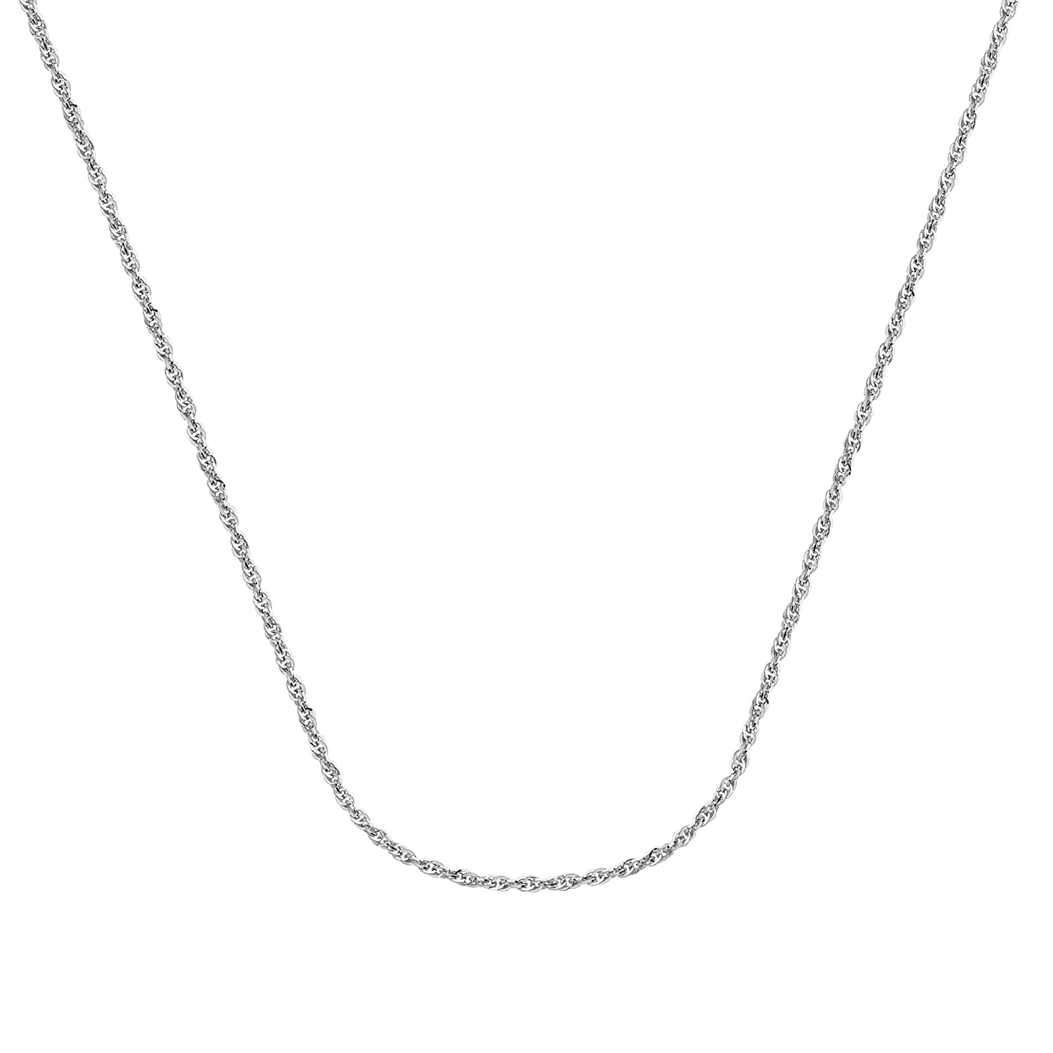 16 Inches Long Rope Chain 14Kt Gold Hollow Rope Chain With Lobster Lock