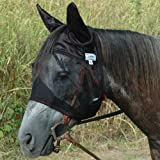 Cashel Quiet Ride Standard Fly Mask With Ears - Size: Horse