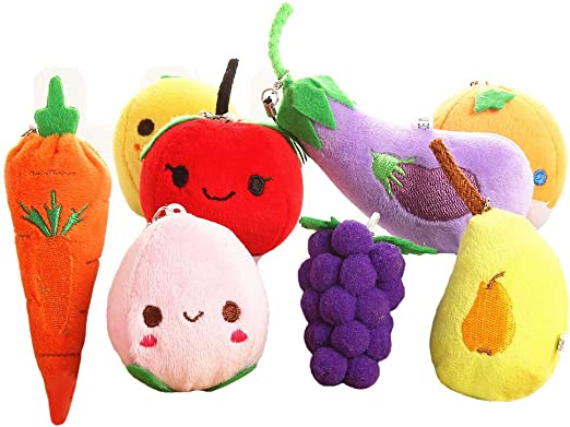 WATERMELON 10cm// 4 inch BAG HOOK Cotton Food Cute Doll THE BAG RING SERIES