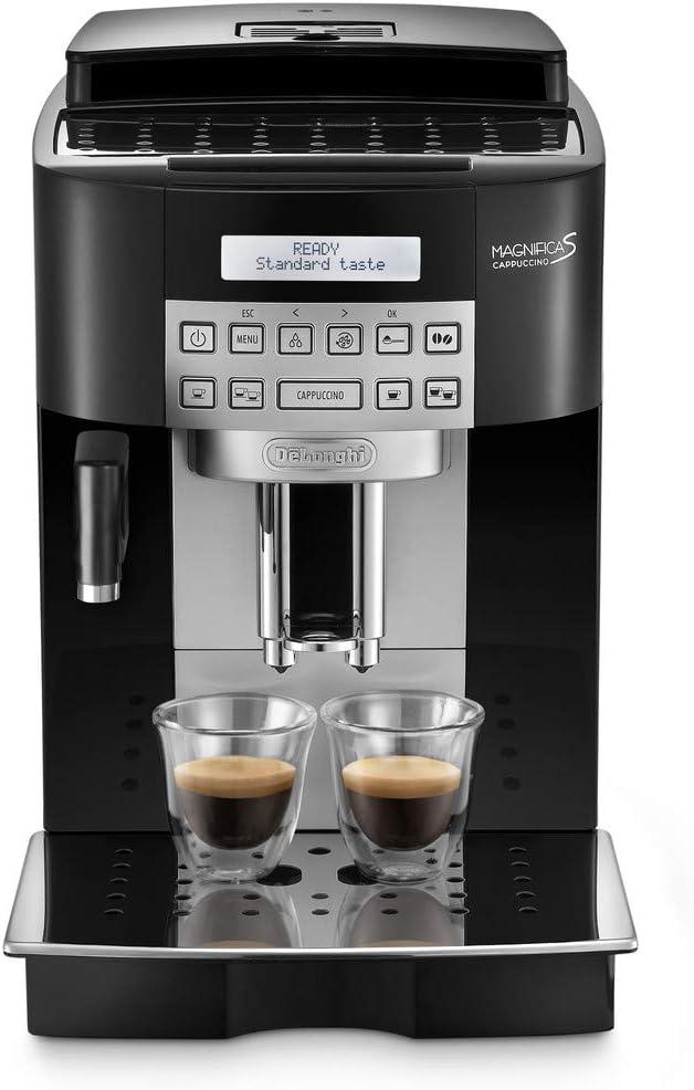 Delonghi Ecam 22.360.B - Cafetera superautomática, 15 bar de presión, capacidad 1,8l, limpieza automática, pantalla lcd, negro: Amazon.es: Hogar