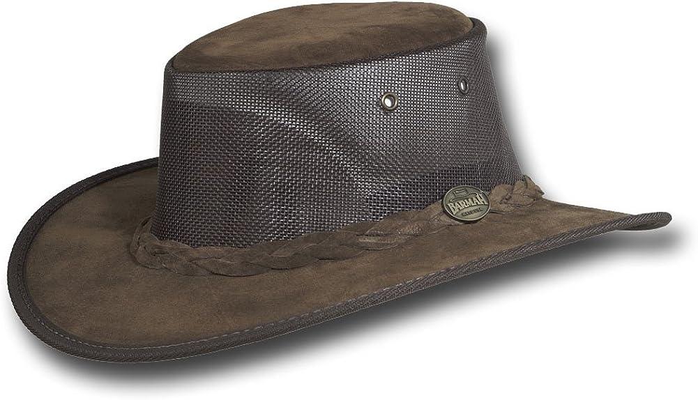Item 1068 Barmah Hats Foldaway Cooler Leather Hat