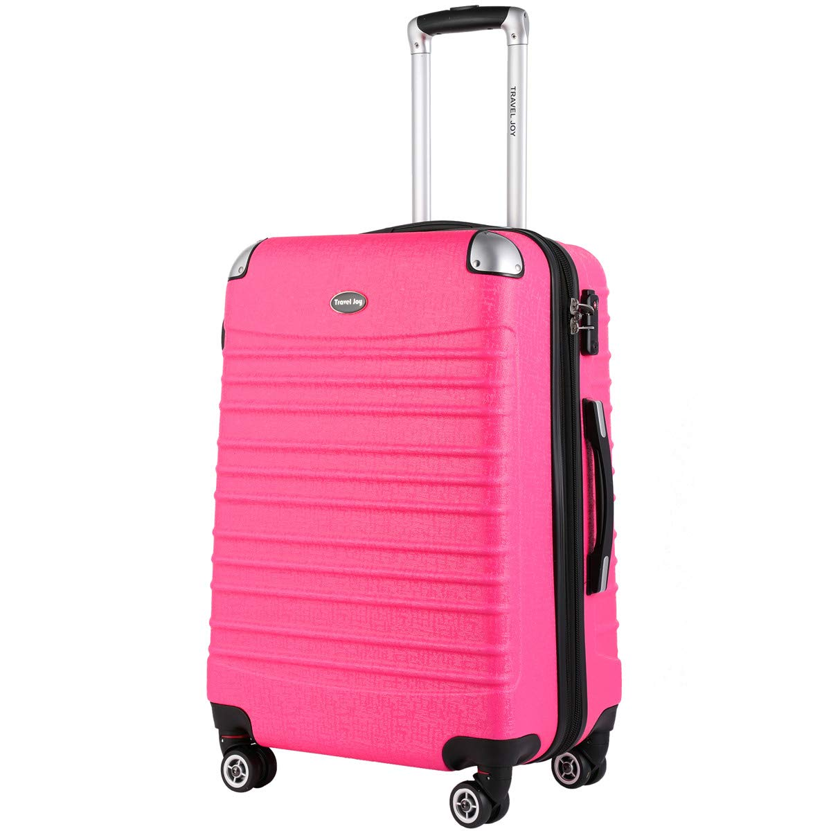 Expandable Carry On Luggage, Lightweight Spinner Carry Ons, Travel Collection TSA Carry On Luggage 20 inches (Pink)