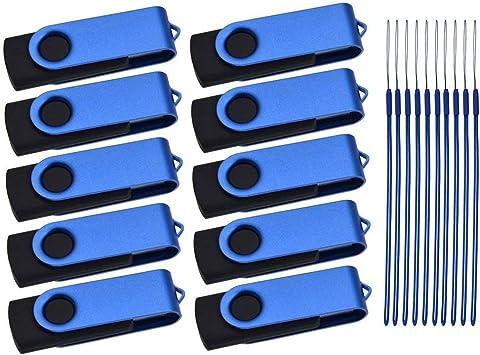 Pendrive 8GB 50 Piezas Memoria USB Pack Azul Pen Drive Portátil Llavero Flash Drives Metal Girar Almacenamiento de Datos por Mayor Memorias Externo Stick por Kepmem para Negocio, Clientela, Activity: Amazon.es: Electrónica