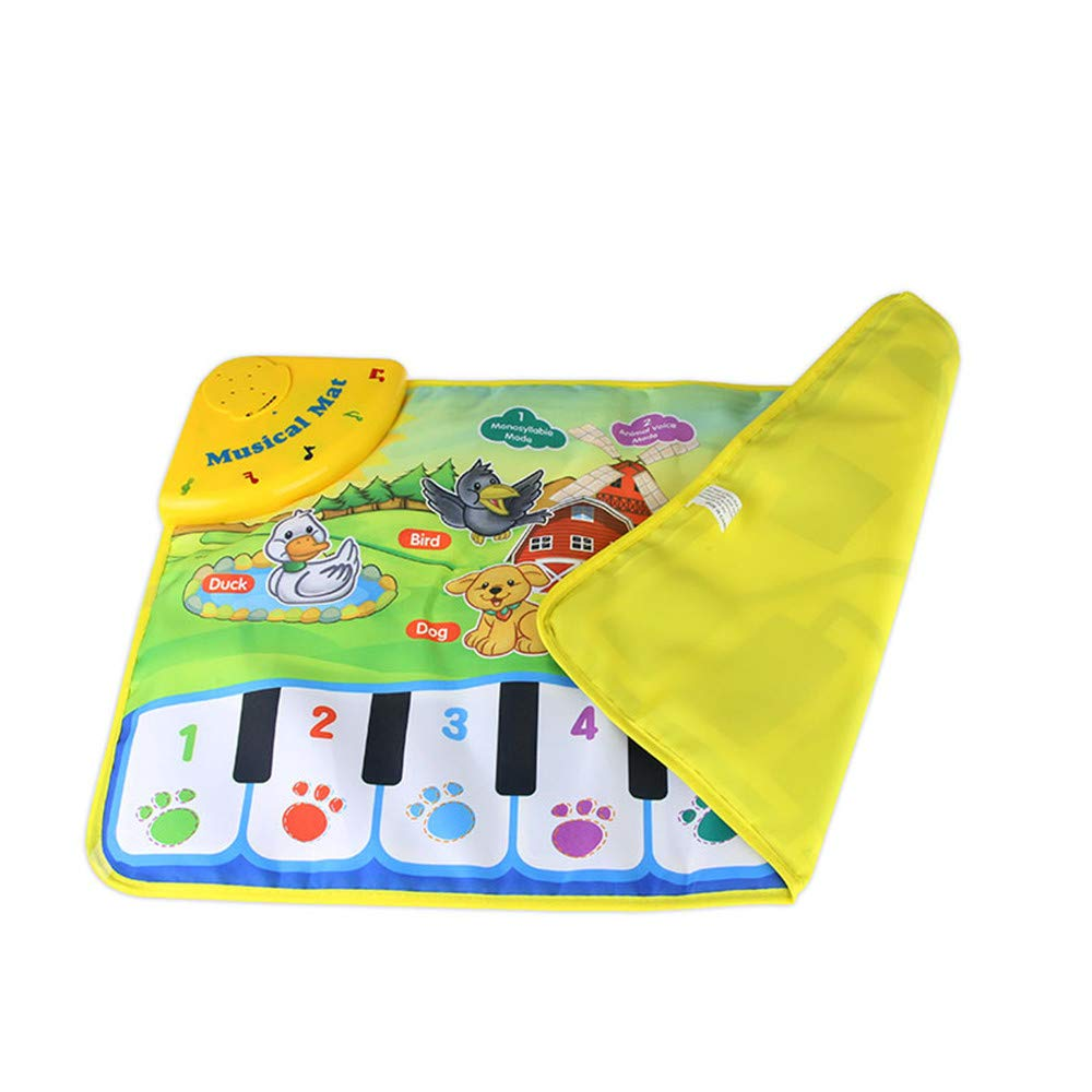 TechCode Children's Upgrade Piano Playmat, Kids Piano Keyboard Music Playmat Toy, Funny Dancing Mat for Babies Toddler Boys and Girls Birthday Christmas Festival Gift by TechCode (Image #4)