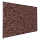 Rubber-Tak Wall Mounted Bulletin Board Size: 4' H x 8' W, Surface Color: Red