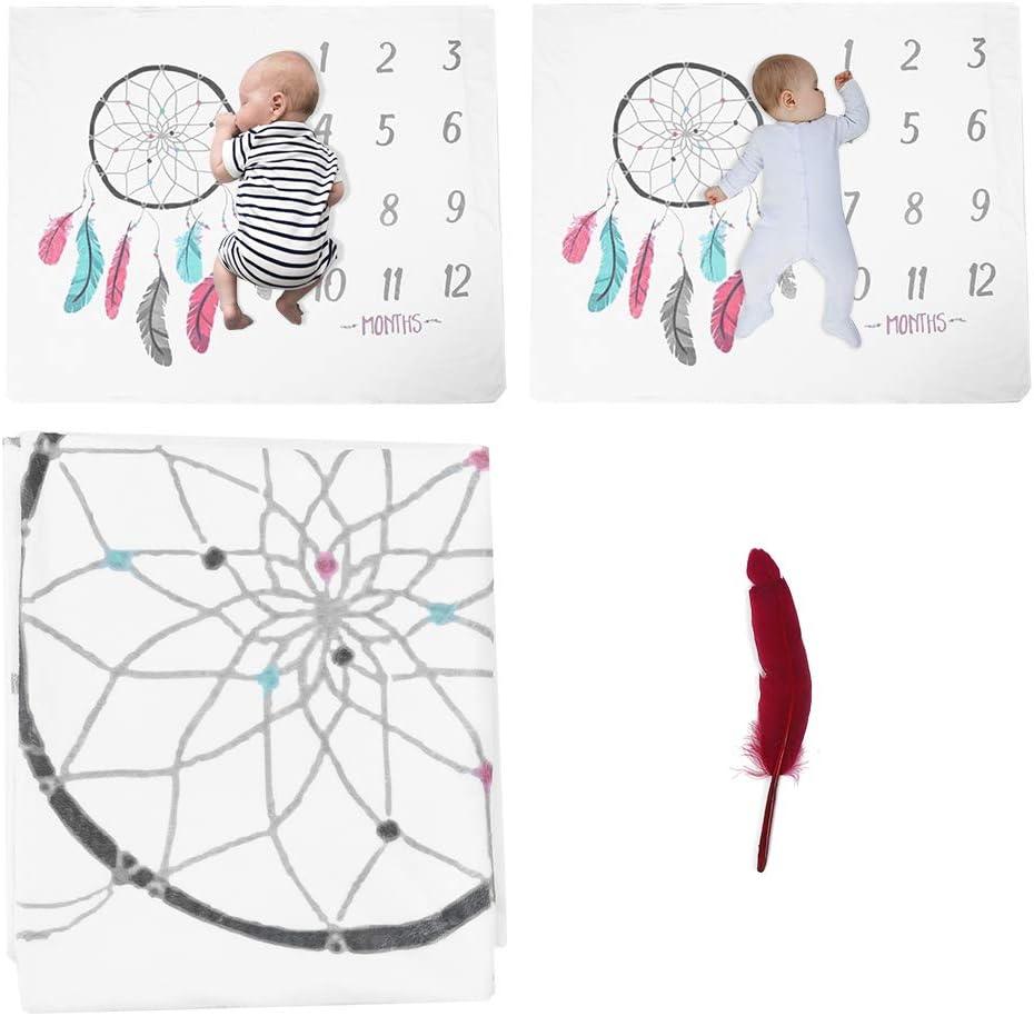 120x100 cm Manta de apoyo para fotograf/ía de hitos del beb/é manta de envoltura para dormir infantil con patr/ón de padre manta de regalo de envoltura suave