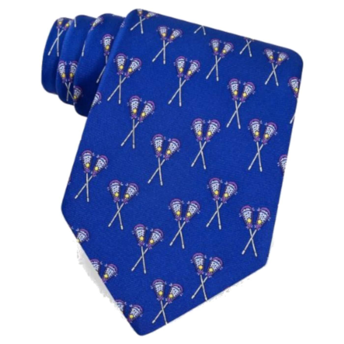 Blue Lacrosse Sticks 100/% Silk Necktie Tie Neckwear
