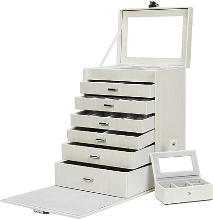 Yorbay Caja Joyero Bloqueable, Caja de joyería de Viaje Mini ...