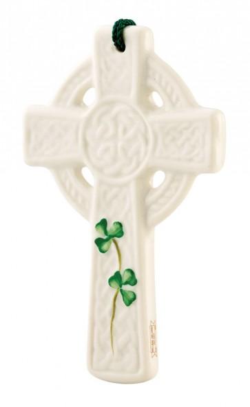 Buy Belleek St. Kieran's Celtic Cross Ornament | Belleek.com
