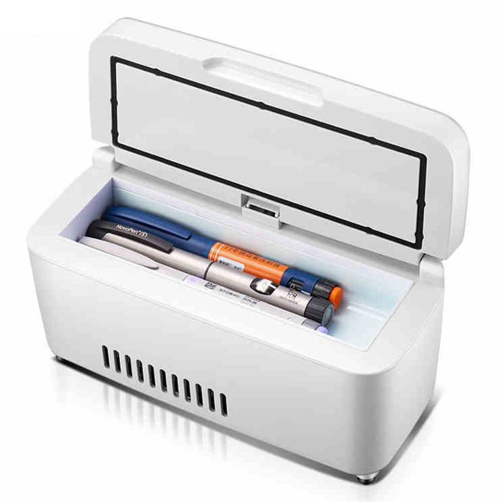 Freezer for car Refrigerator and Insulin Refrigerator Portable car Refrigerator Medical Small Suitcase Suitable for Cars, Travel, Home Kitchen & Dining