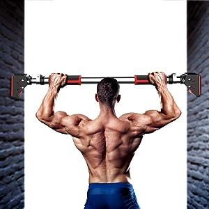 DEDAKJ Pull Up Bar, Locking Door Pullup Bar Chin Up Bar Home Gym Equipment Adjustable Width - 660 LBS