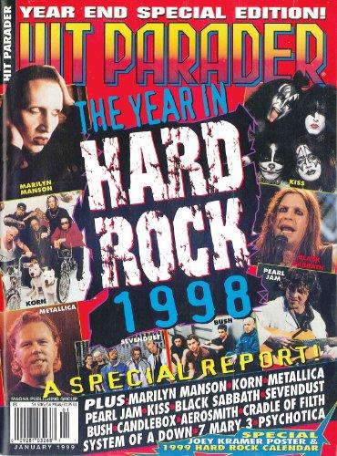 Hit Parader January 1999 Marilyn Manson, Kiss, Metallica, Korn, Black Sabbath