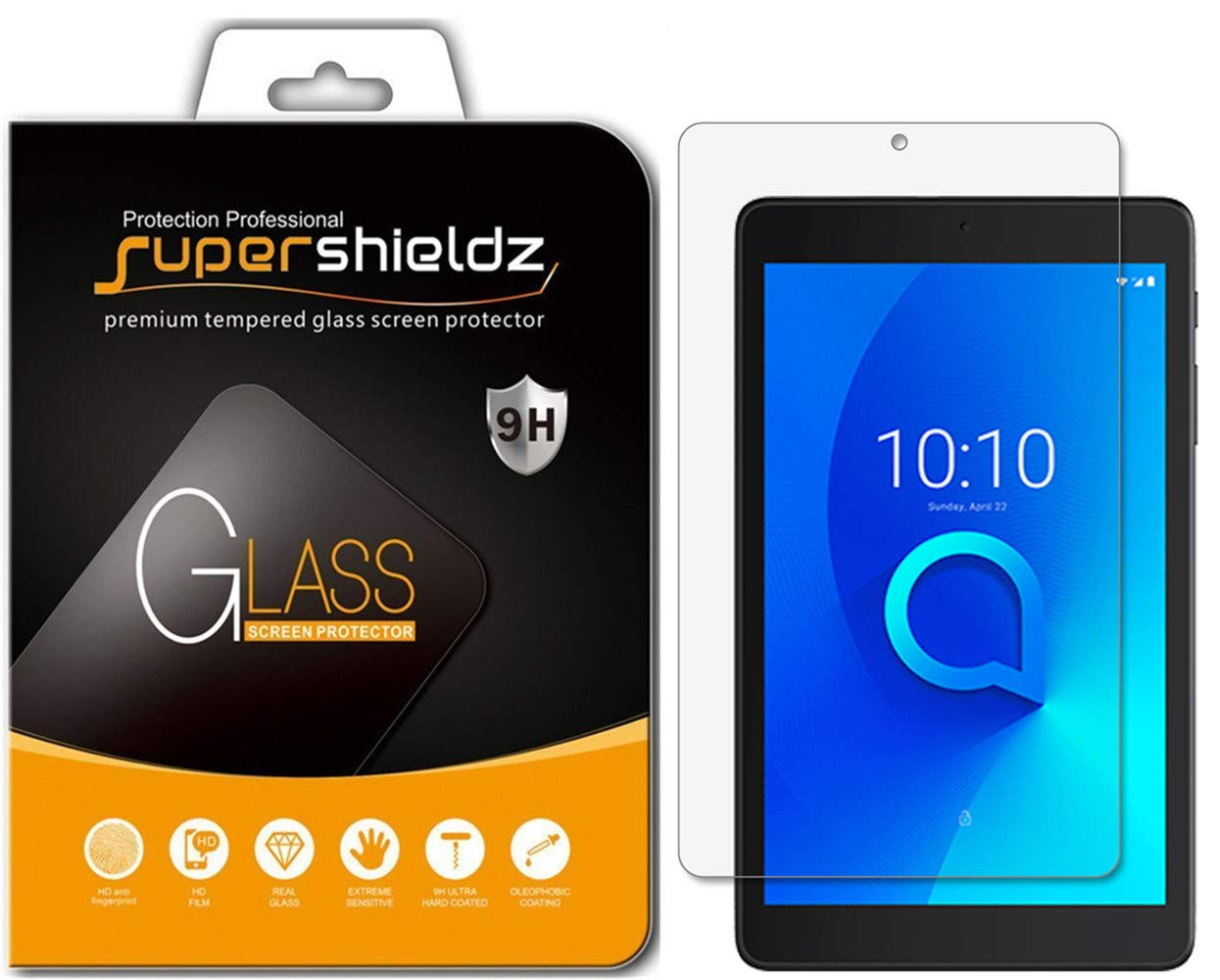 2.5D Round Edge High Definition 2-Pack Tempered Glass Screen Protector for Alcatel 3T Bubble Free Aolander Alcatel 3T 8.0 Screen Protector, 8 Inch 9H Hardness