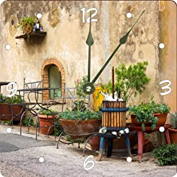 Rikki Knight Cute Italian Scene Design 13 Art Wall Clock