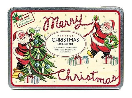 amazon com cavallini papers co christmas vintage santa mailing