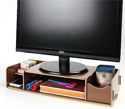 Menú vida universal soporte de pantalla de TV Monitor de PC de madera de sobremesa Base dock Soporte Pantalla Soporte Para iMac PC portátil Elevated elevador de Monitor: Amazon.es: Electrónica