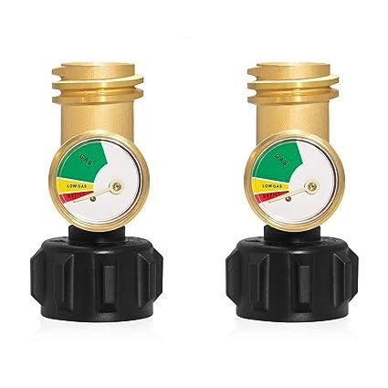 Amazon.com: J&T - 2 unidades de medidor de presión de gas ...