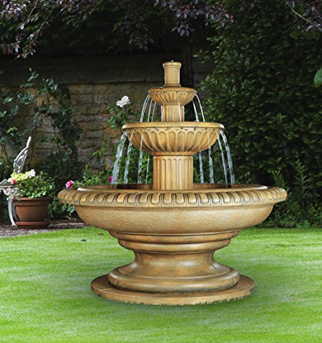 Henri Studio Palazzo Fluted Fountain - Stone Finish