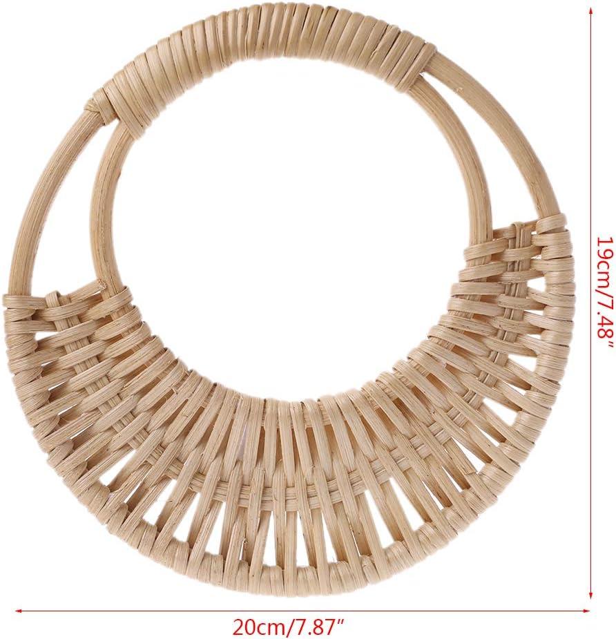 Simplelife Wooden Handles Bag Rattan Handles Replacement for DIY Making Purse Handbags Handles