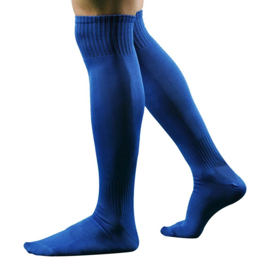 Azul WOVELOT Hombres Deportes Futbol Calcetines Largos de Alta calcetin Beisbol Hockey