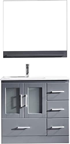Virtu USA MS-6736-C-GR-001 Zola 36″ Single Bathroom Vanity