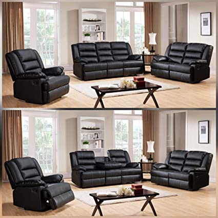 Marvelous Romas 3 2 Leather Recliner Sofa Collection Brown Amazon Bralicious Painted Fabric Chair Ideas Braliciousco