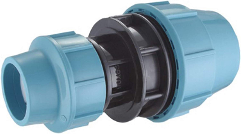 Kupplung für PE-Rohr 32mm x 32mm PP-Fitting Verschraubung Wassersystem Weiß