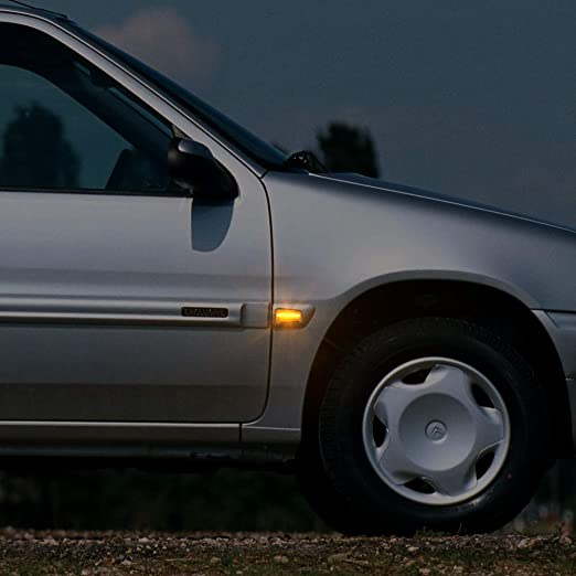 Dynamische Blinkleuchte Oz Lampe Seitenmarkierung Fließende Seitenmarkierungen Klar Für Peugeo T 106 Ii 306 406 806 Expert Partner Citroe N Berlingo Jumpy Saxo Xantia Xm Xsara Zx Break Fia T Auto