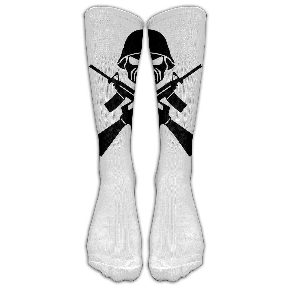 Iron Maiden White Unisex Knee High Sports Socks 19.68 inches