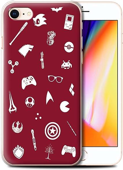 Stuff4 Coque de Coque pour Apple iPhone 8 / Geek Interne/Autocollants Design/Geek Nerdy Joueur Fan Collection