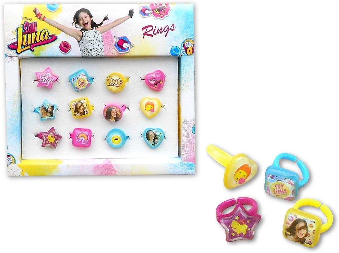 Soy Luna- Caja con 12 anillos, unica (Kids Euroswan WDSL120): Amazon.es: Juguetes y juegos