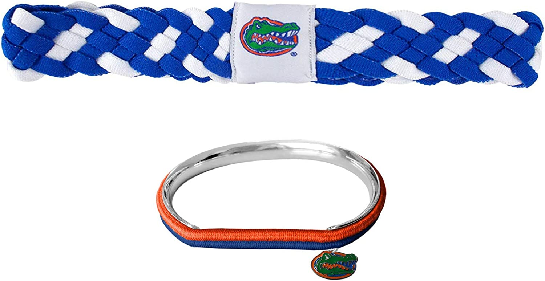 GameDay Novelties NCAA Florida Gators Braided Headband and Hair Tie Bangle