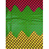 Premier Kente Cloth Fabric Real Wax Red Green Yellow Colorful Design rw80481611