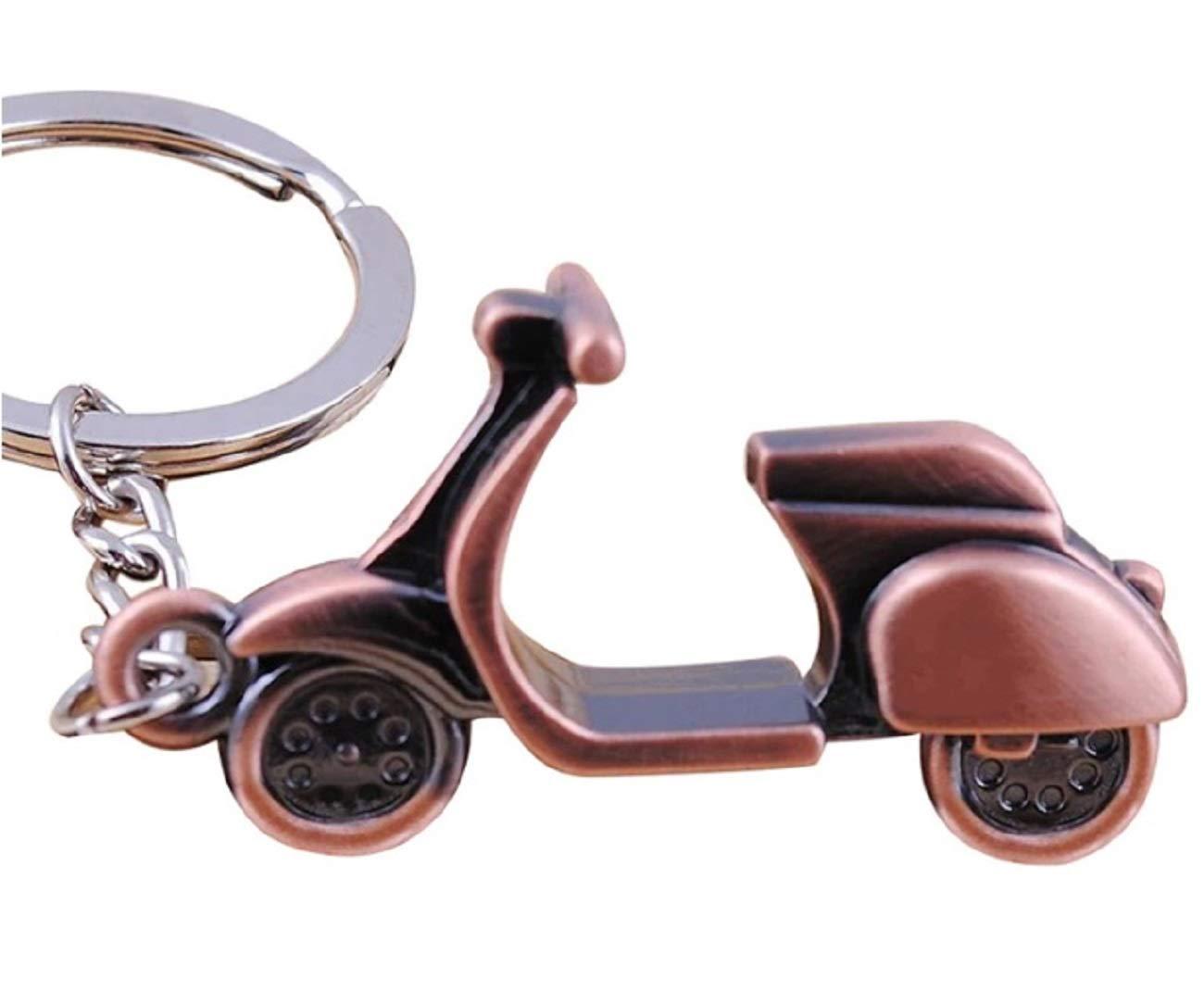 Sportigo /® Motorroller Schl/üsselanh/änger//Roller in der Farbe Bronze//Retro Look//Geschenk