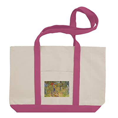 29118a2c77 lovely Farmers Garden With Crucifix (Klimt) Cotton Canvas Boat Tote Bag Tote