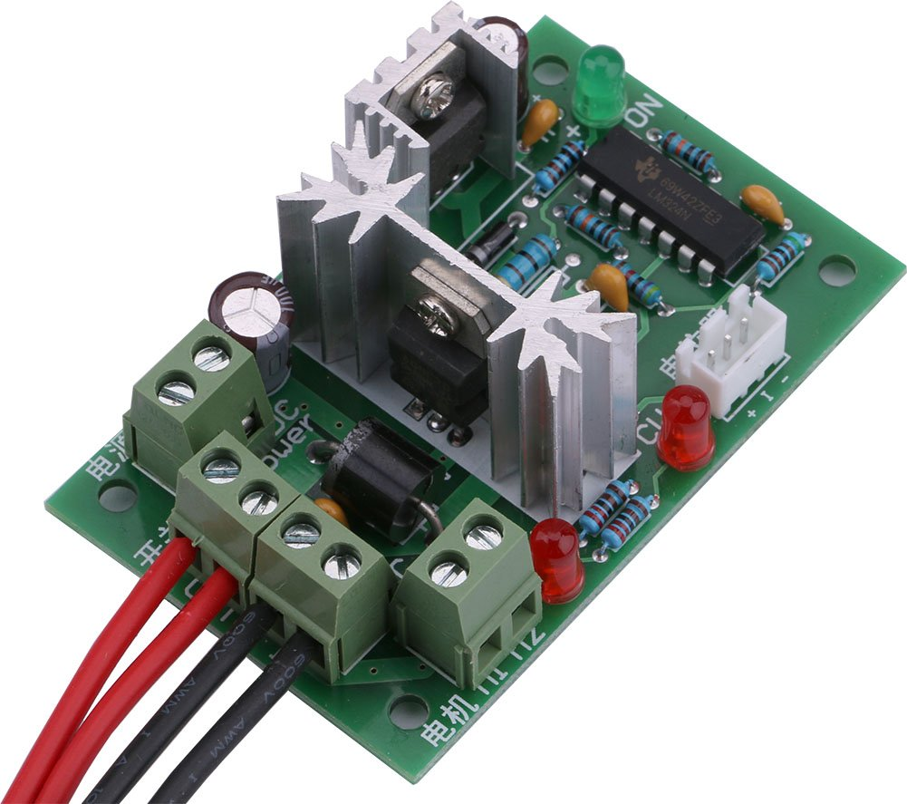 Yeeco Dc Motor Speed Pwm Controller Board 10v 12v 24v With Pulse Electronic Projects Circuits 30v 120w Adjustable Driver Regulator Reversible Reversing Switch Led