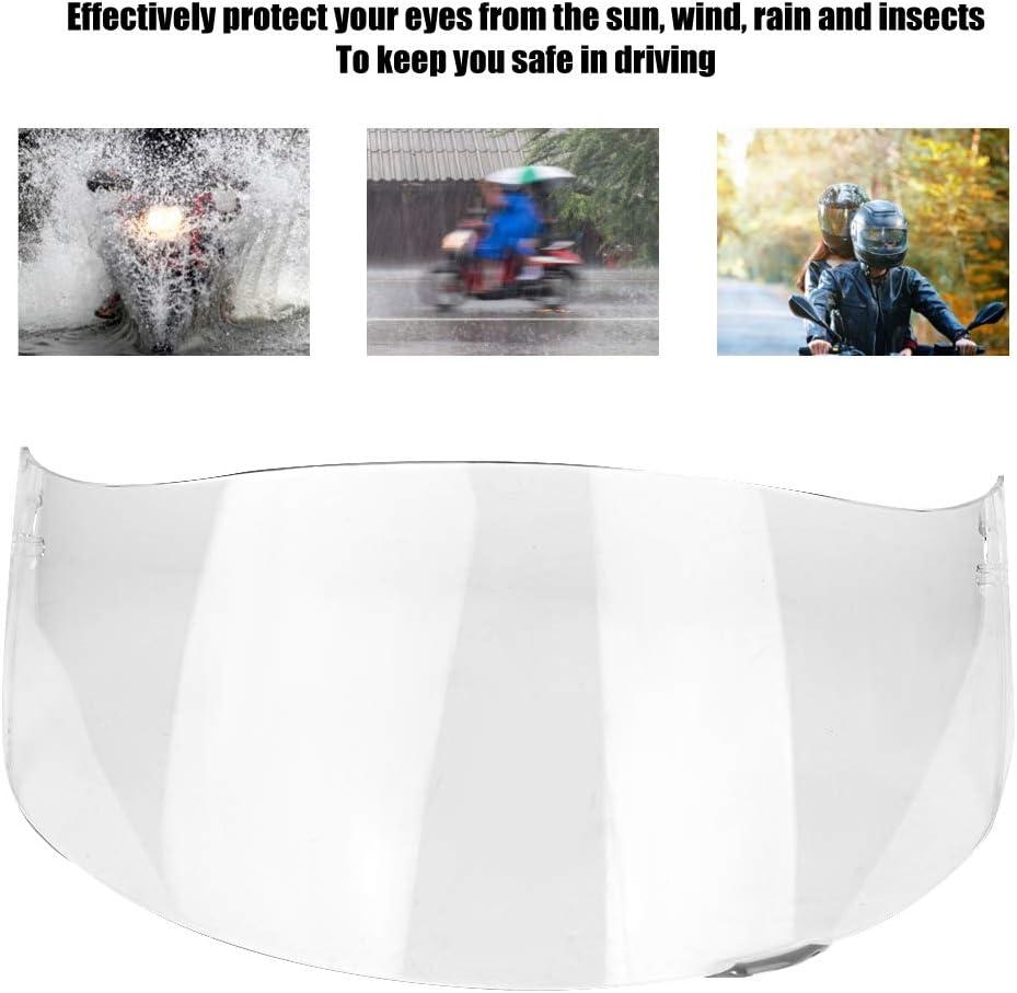 Flip Shield casque visi/ère Aukson moto pare-vent casque lentille visi/ère bouclier plein visage adapt/é pour AGV K1 K3 SV K5 K5-S plaqu/é argent