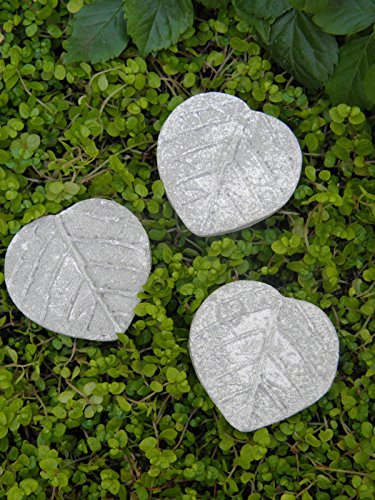 Mini Fairy Garden Leaf Stepping Stones - Miniature Fairy Garden, Village Accessories Decoration Pieces (9)