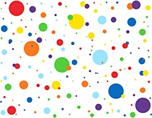 MozamyCreative Dots Wall Decals (175 Count) Primary Colors Dots Decals Rainbow Colors Polka Dot Decor Kids Wall Decals Classroom Wall Decals Playroom Wall Decor