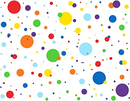 MozamyCreative Dots Wall Decals (175 Count) Primary Colors Dots Decals  Rainbow Colors Polka Dot