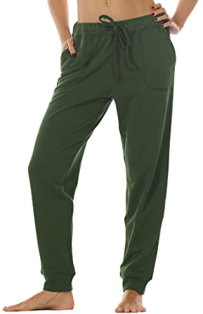 65e2e82929 icyzone Women's Active Joggers Sweatpants - Athletic Yoga Lounge Pants with  Pockets (Army, ...