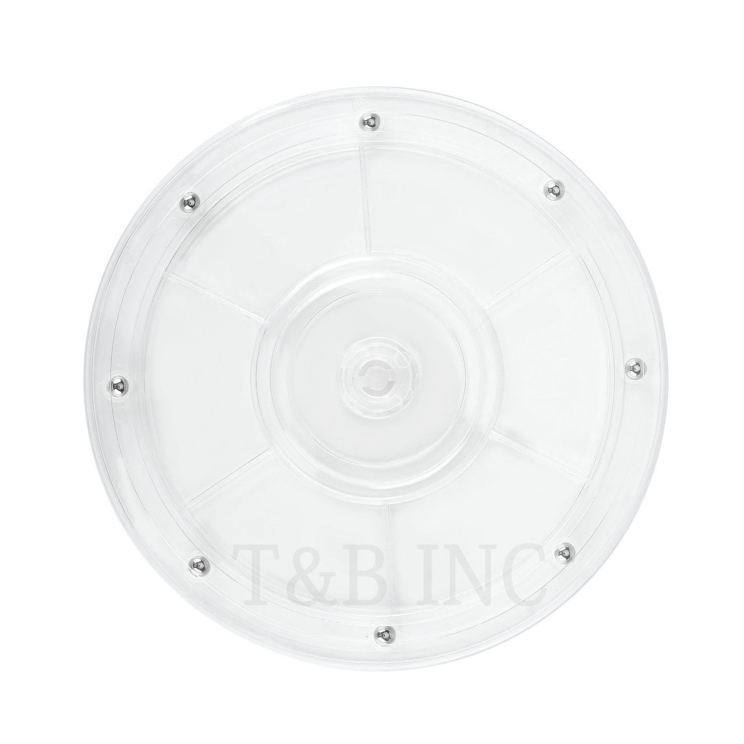 T&B 8 inch Lazy Susan Turntable Organizer White Acrylic for Spice Rack Table Cake Kitchen Pantry Decorating