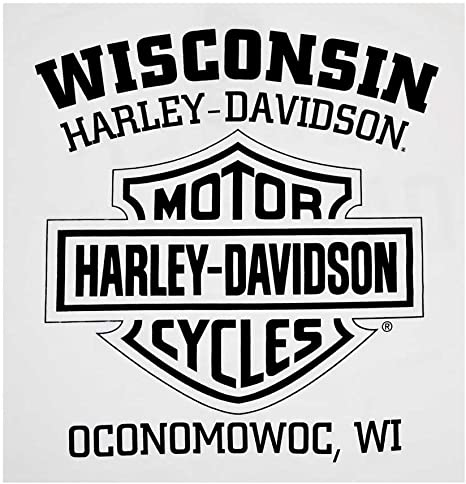 Harley-Davidson Mens Distressed Freedom Fighter Long Sleeve Shirt White