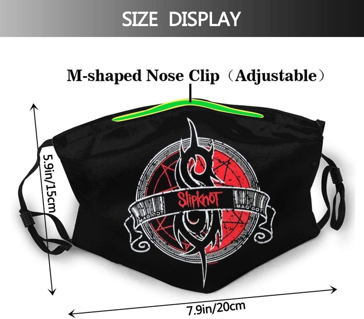 Shadidi slipknot M/áscara de la cara transpirable bandana boca Muffle impresi/ón 3D para deporte y al aire libre hombres mujeres blanco Negro 1 1 unidad