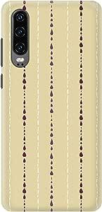 Stylizedd Huawei P30, Slim Snap Basic Case Cover Matte Finish - Linear Raindrops