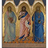 Canvas Prints Of Oil Painting ' Nardo Di Cione Three Saints ' , 12 x 13 inch / 30 x 33 cm , High Quality Polyster Canvas Is For Gifts And Bar, Garage And Powder Room Decoration, making your own
